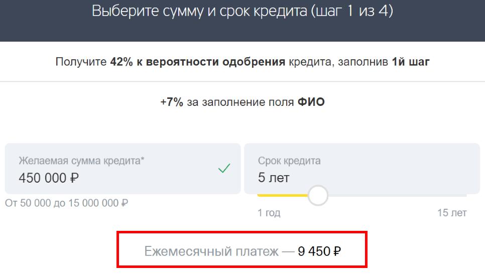 Кредит наличными в Тинькофф: онлайн заявка в банк